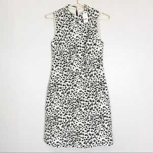 Loft NWT Cheetah Animal Print High Neck Dress 0